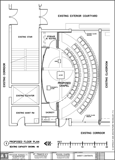 Religious architecture technologyarchitecture technology for Small chapel floor plans